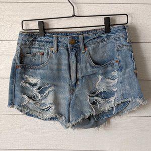 American Eagle Hi-Rise Festival Cut Off shorts 6